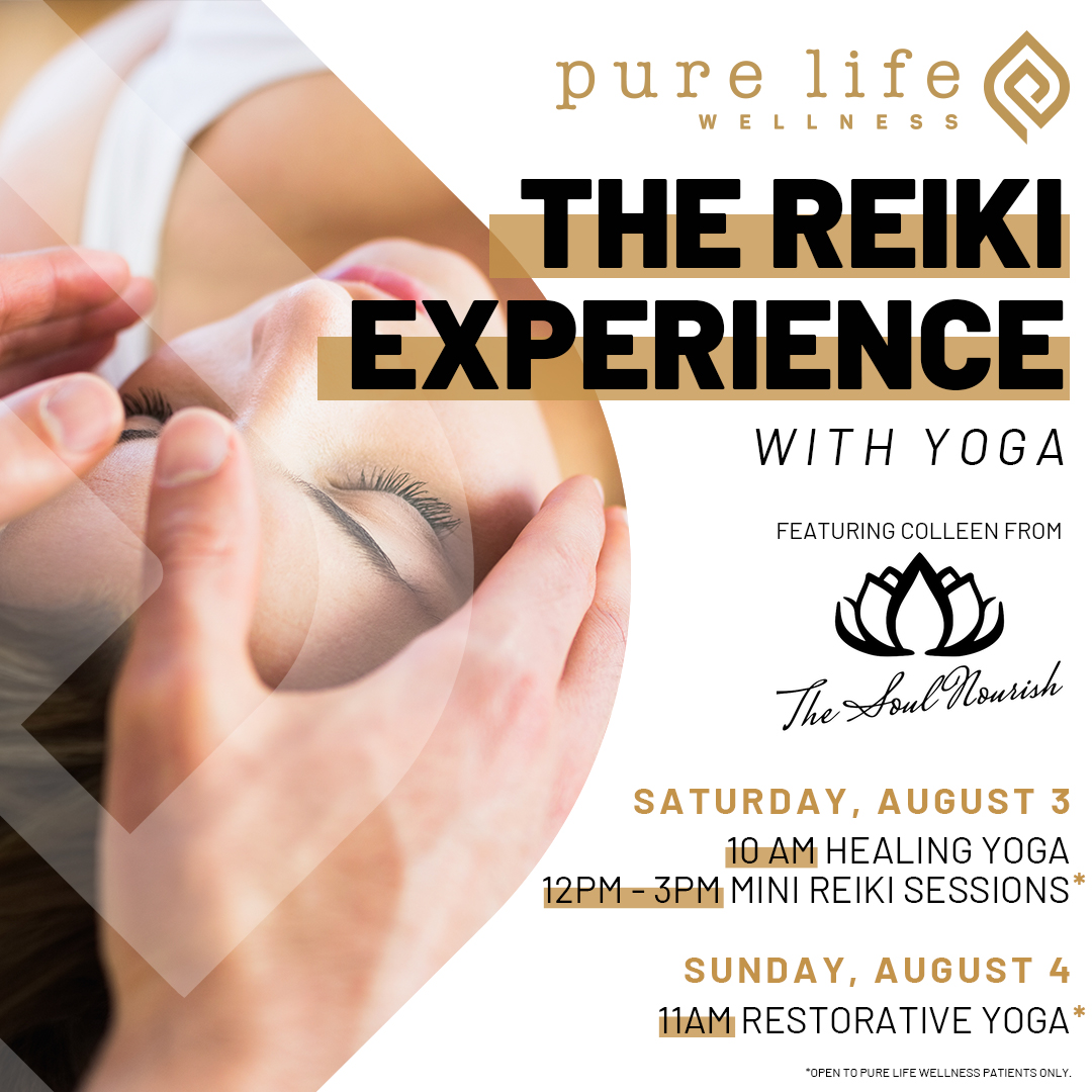 The reiki experience with yoga weekend event at Pure Life Wellness in Federal Hill Baltimore